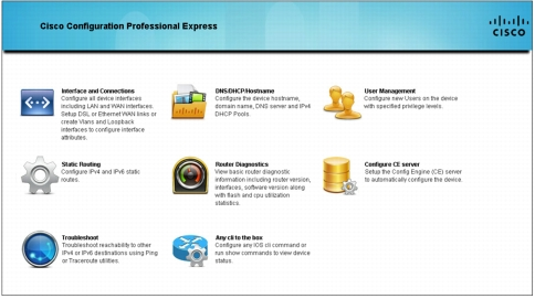 Cisco Configuration Professional Express Admin Portal