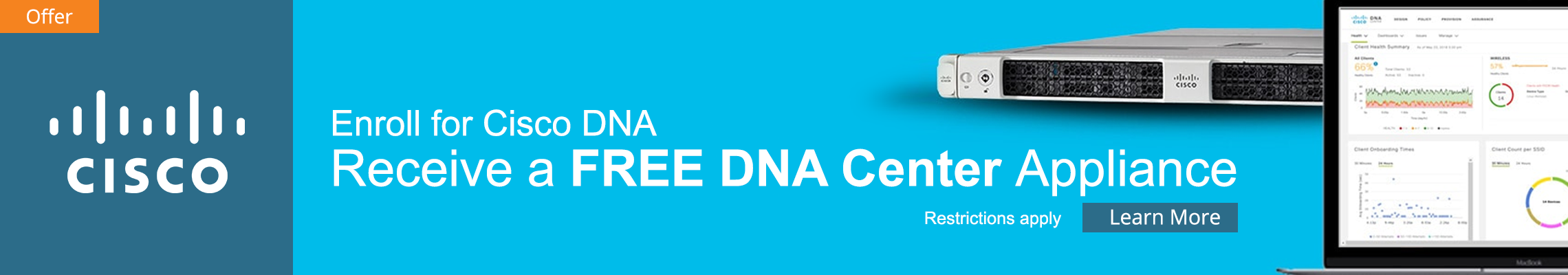 Cisco DNA Enrollment Promo Home Banner